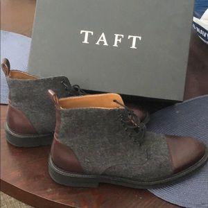 Taft - Jack Boot - Grey/Oxblood - size 10